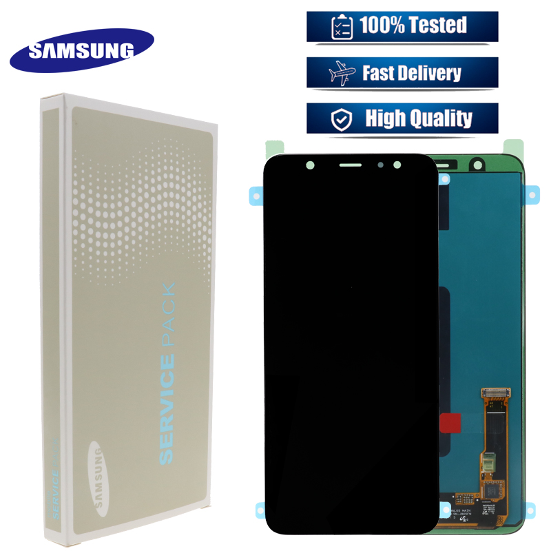 Original Super AMOLED Touch Screen Digitizer LCD Display Assembly For Samsung Galaxy J810 LCD J810F J8
