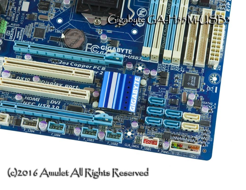 original motherboard for Gigabyte GA H55M USB3 DDR3 LGA 1156 for i3