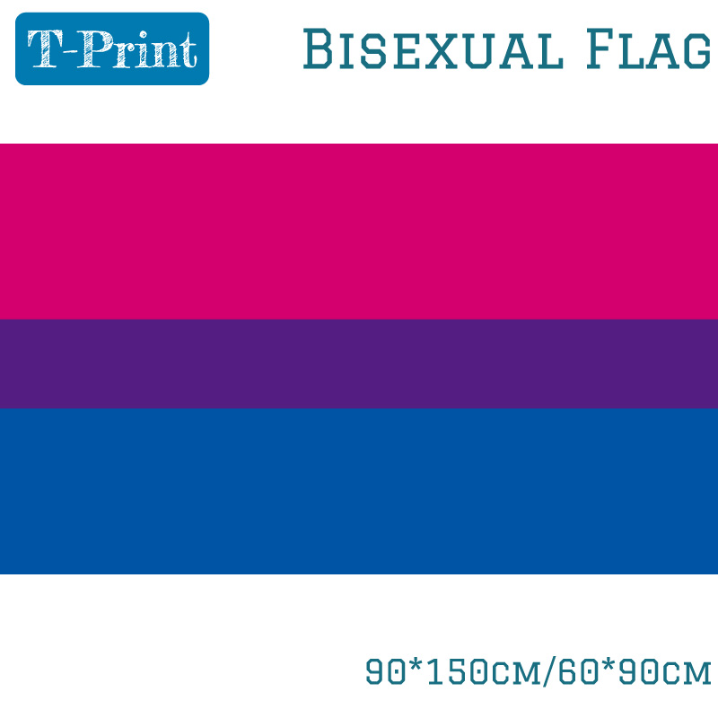 60*90CM Banner Flying 150*90cm <font><b>Flag</b></font> <font><b>Bisexual</b></font> <font><b>Pride</b></font> <font><b>Flag</b></font> LGBT image