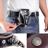 2 In 1 AUTO LOADING Genuine Leather Hunting Slingshot Pouch With Ball Magnet Catapult Ammo Pouch