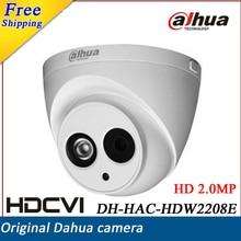 Newest Dahua HDCVI Camera HD1080P 2MP DH-HAC-HDW2208E Network IR Dome Security Camera CCTV IR length 50m HAC-HDW2208E