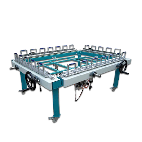 precision double chuck silk screen printing stretcher machine for mesh цена 2017