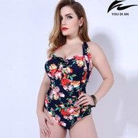 Hot New Push Up One Piece Swimsuit Women Plus Size Swimwear Russian Swimming Suit Large Big