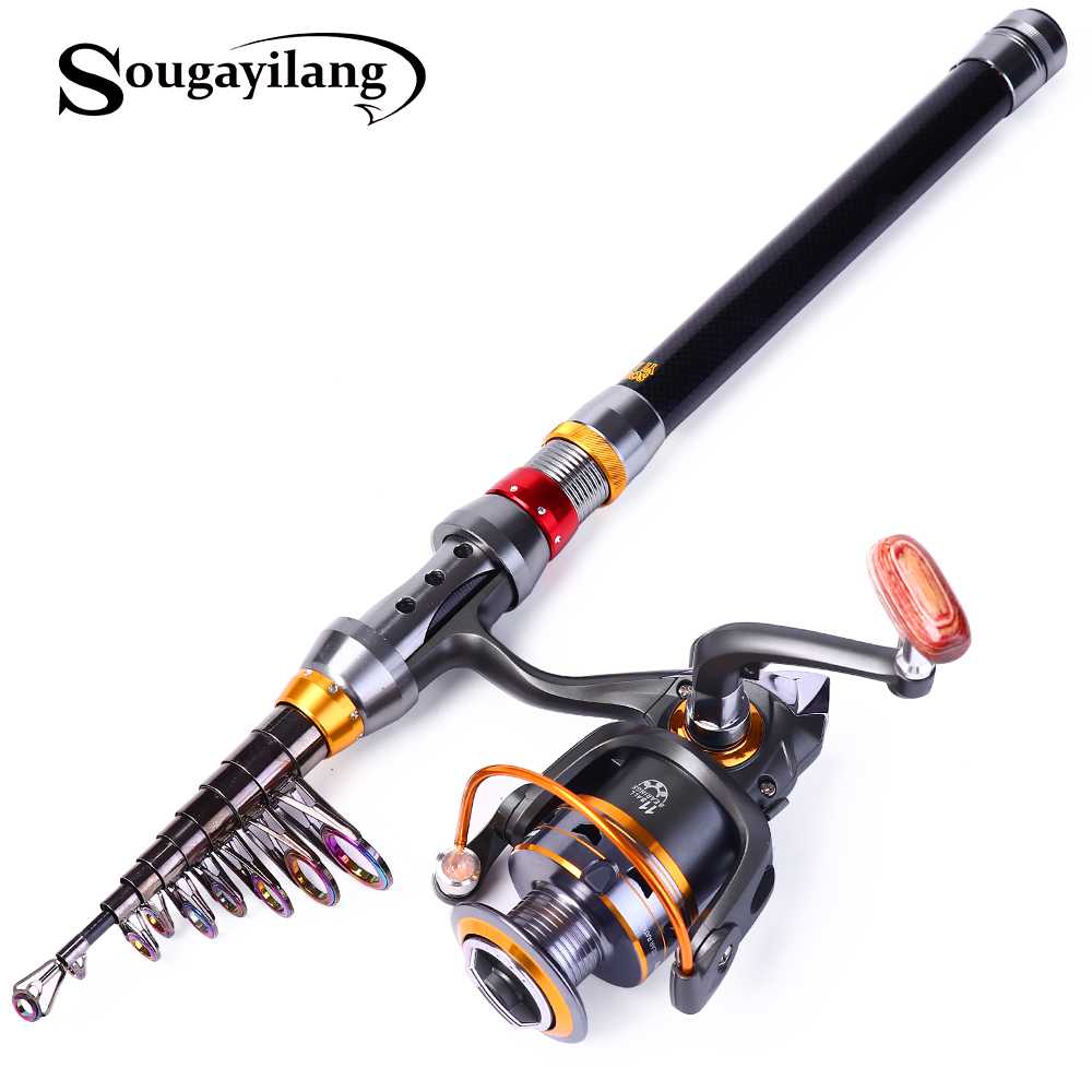 Sougayilang telescopic fishing rod and reel combo for Fishing rods and reels