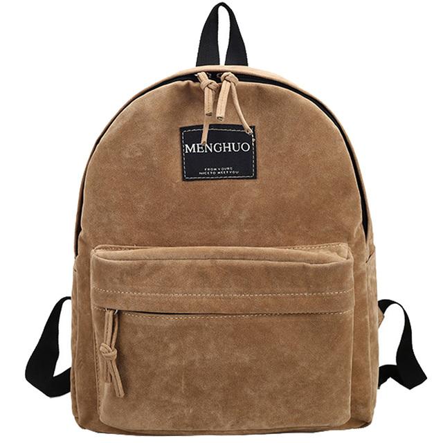 2016 New Women Backpack Preppy Style Suede Backpacks Teenage Girls School Bags Vintage Rivet Travel Backpack Burgundy Gray Black
