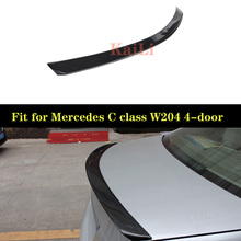 W204 Carbon Fiber Rear Trunk Spoiler Wing For Mercedes C Class W204 Sedan 4-door 2007 - 2014 amg style for mercedes w204 amg carbon fiber spoiler 2008 2010 2011 2012 2013 2014 c class w204 carbon spoiler 4 door sedan