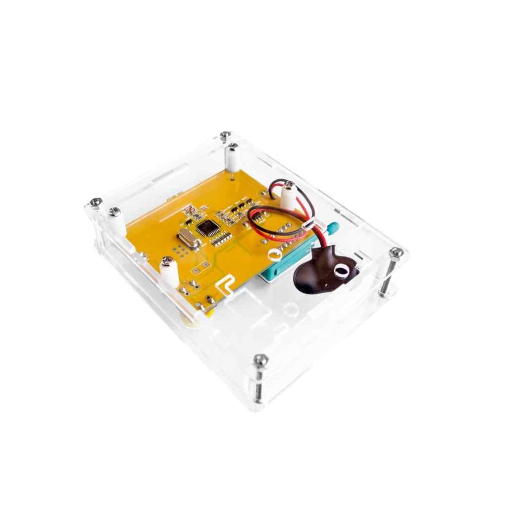 ダイオードトライオード静電容量、esrメータmos pnp LCR-T4トランジスタテスターlcdディスプレイMega328トランジスタダイオードアクリルケース