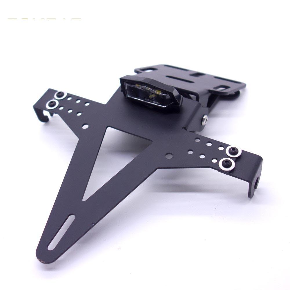 1 Set Universal  Motorcycle Adjustable Angle Aluminum License Number Plate Frame Holder Bracket