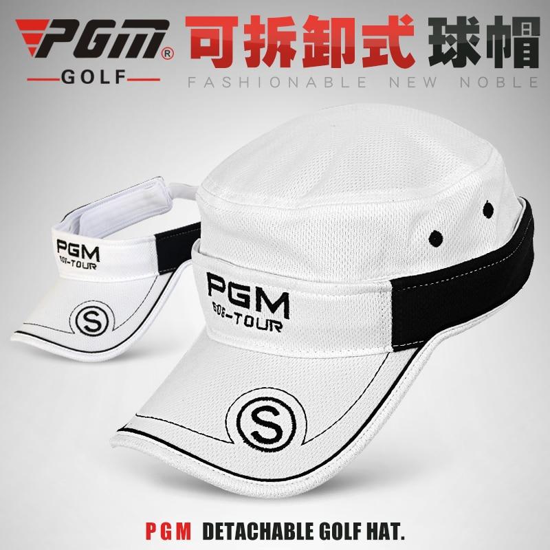 La pelota de golf cap y sombrero de visera/Sombrero desmontable de doble propósi