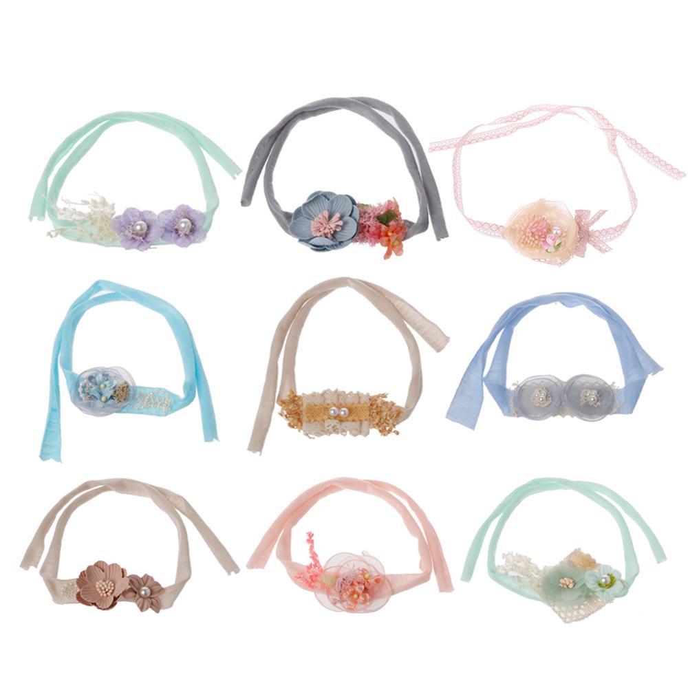 Newborn Photography Props Flower Headband Baby Girls Handmade Tieback   Headwear   Headband Photography Newborn Accessories