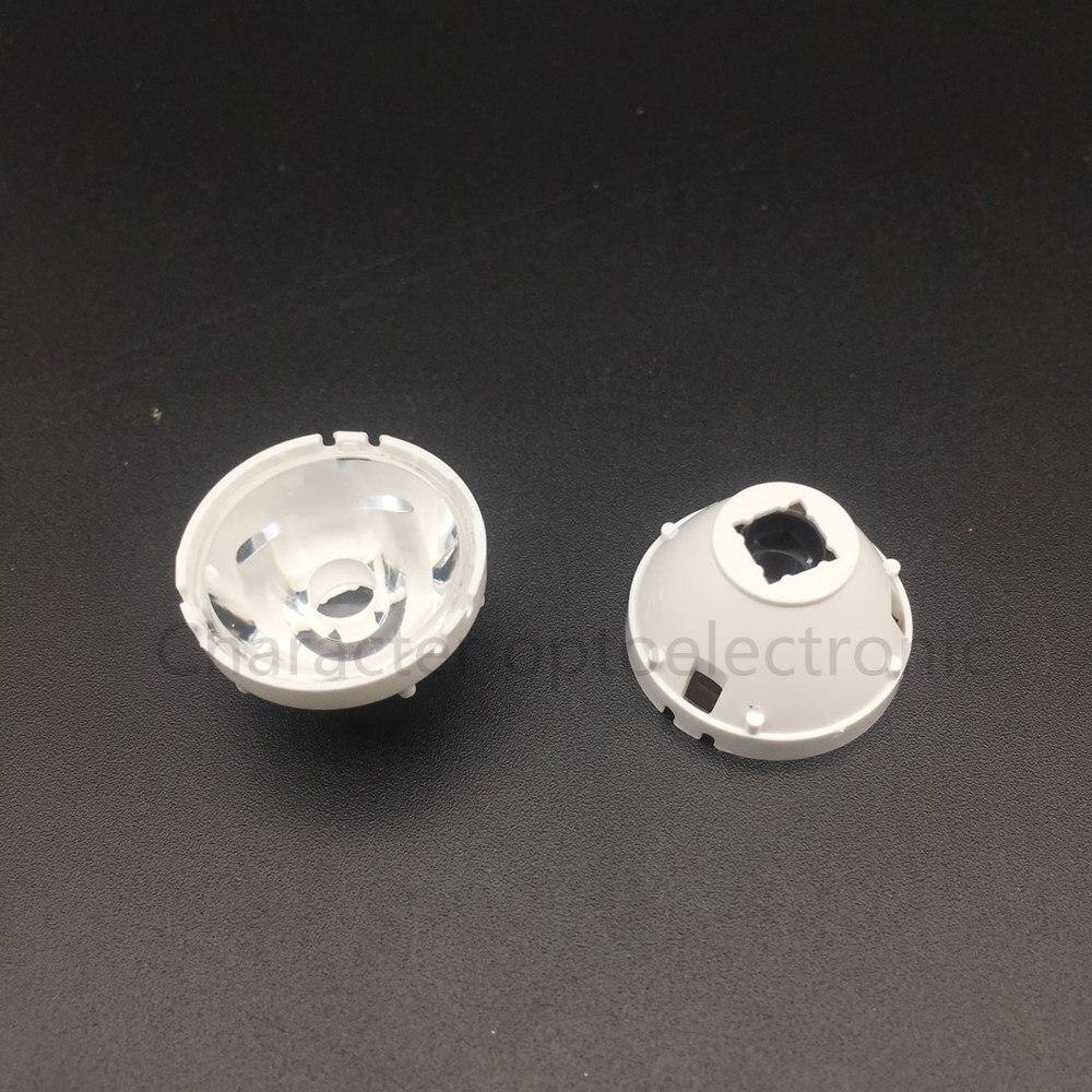 10pcs CREE XML LED XML2 XHP50 Lens 21mm white holder 10/25/45/60 degree LENS/Reflector Collimator for T6 chip