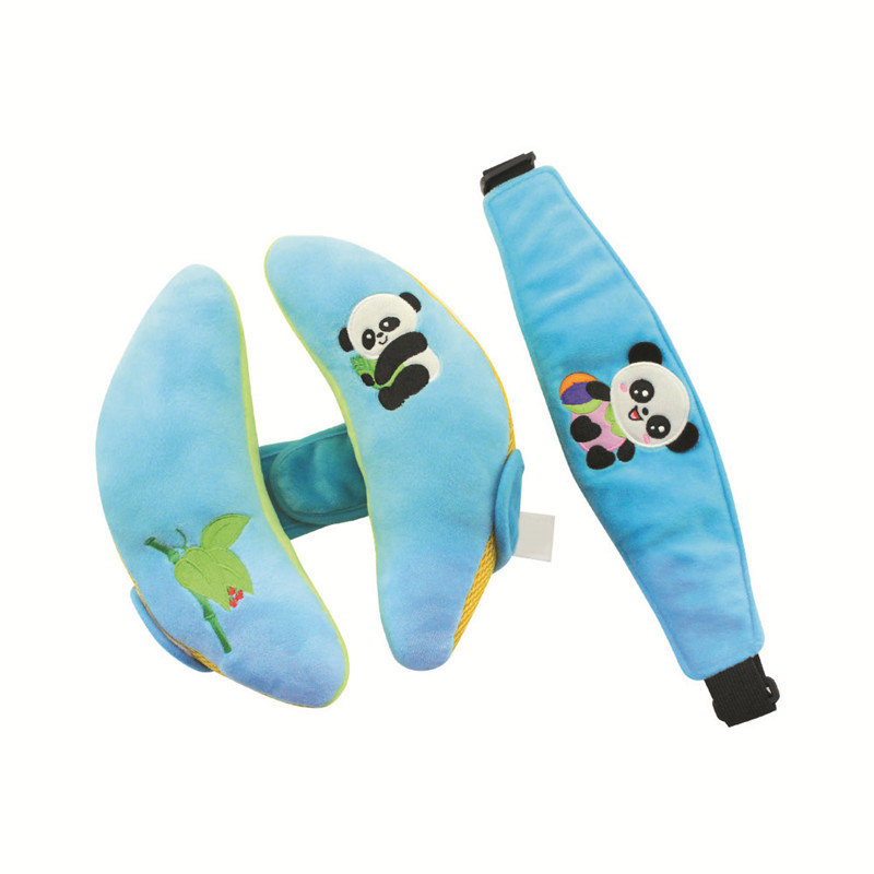 Cute Plush Baby Neck Car Pillow 0--3 Years Children Baby Neck Pillow Decoration for Car Safety Seat Pillow Eye Mask Car-styling