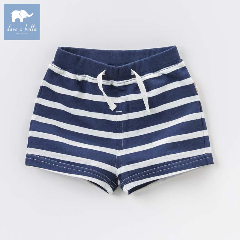 DBA6372 bella דייב תינוק אופנה 100% כותנה קיץ פעוט תינוק בגדי ילדי מכנסי פסי חיל הים מכנסיים מקרית בני 1 pc