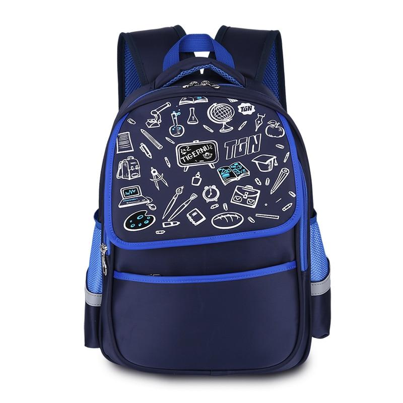 Tigernu Children's Backpack Kids Cartoon School Bags For Boys Anime School Backpack For Girls Orthopedic Schoolbag high grade pleuche rectangle violin case 4 4 3 4 1 2 1 4 w hygrometer black oxfordbuit in high quality violino case