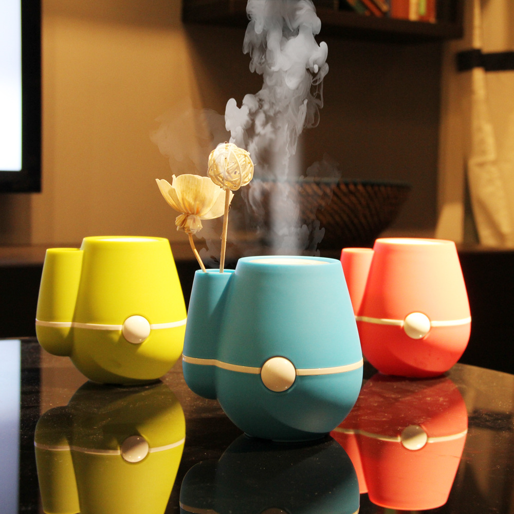 Beautiful Vase Shape USB Ultrasonic Air Humidifier Mini Essential Oil Aroma Diffuser Home Office Mist Maker Fogger