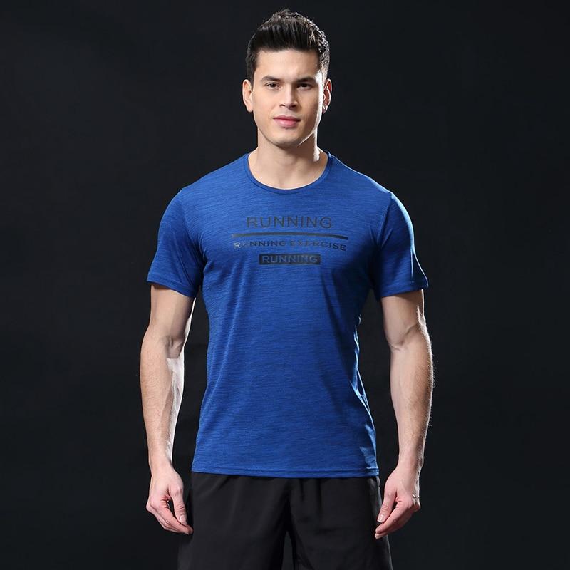 Men Short Sleeve Sportswear Mens Sport Running T Shirt Sport Men Quick Dry Basketball Soccer Training T-Shirt Gym Clothes Man