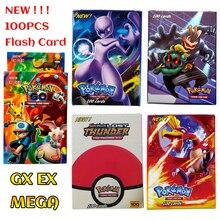 100 шт./кор. карточки с покемонами EX GX Мега флэш-карты без повторения Коллекционная торговая карта набор Детская игрушка подарок
