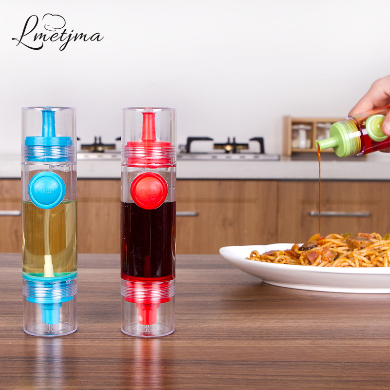 LMETJMA Spray Olive Fine Pump Oil Sprayer Bottle Cruet Dispensers Vinegar Honey Oil Bottle with Press for Barbecue Cooking K0103