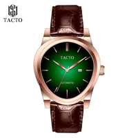Luxury Brand TACTO Men Watches Man Japan NH35 Automatic Mechanical Wristwatch Genuine Leather Male Clock Relogio Masculino