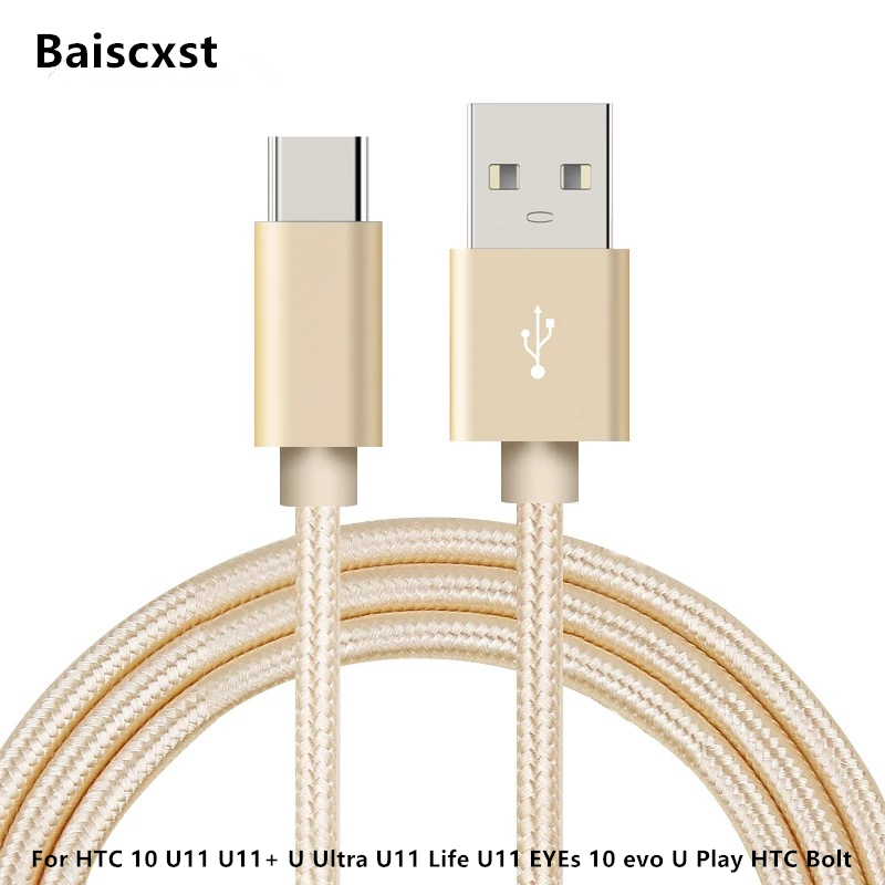 USB Type C Cable For HTC 10 U11 U11+ U Ultra U11 Life U11 EYEs 10 Evo U Play HTC Bolt TypeC Fast Charge USB Type-c Cable Adapter