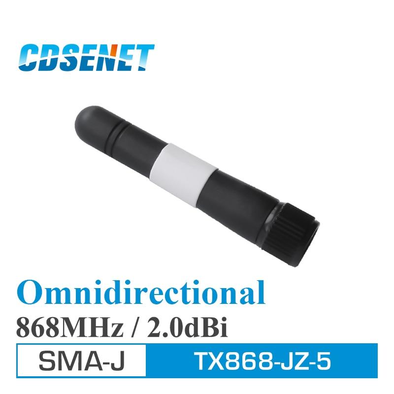 imágenes para 4Pcs/Lot Omni 868MHz High Gain Wifi Antenna CDSENET TX868-JZ-5 2.0dBi SMA Male Omnidirectional Antennas For Communication