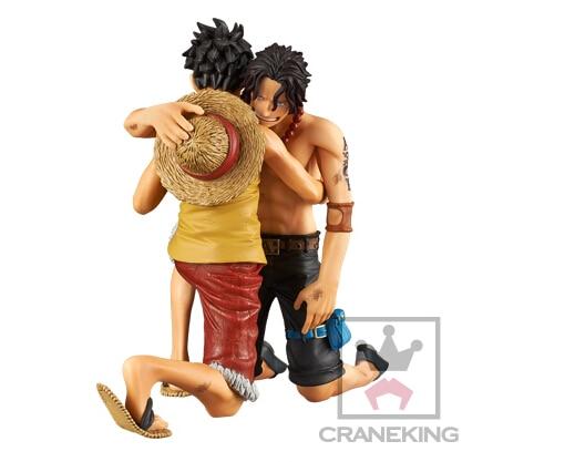 Banpresto One Piece DRAMATIC SHOWCASE Ace Luffy Action Figures Anime One PieceLuffy Ace Model Toy Doll Figuras One-Piece