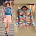 Удивительные макарон пальто женщина, элегантный твидовый пиджак женский женская мода зимние пальто, конфеты цвет куртки mujer jaqueta feminina