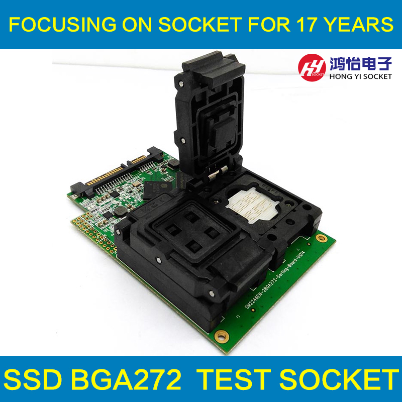 цены BGA272 Test Fixture SSD Flash Test Solution SM2246EN Two In One Test Board For Smart Phone Date Recovery