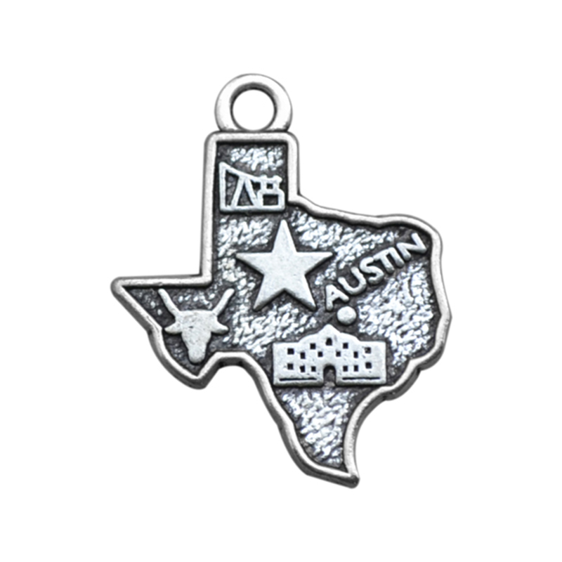 4 Style Silver TEXAS State Map Dangle Charms Double-side Jewelry DIY Fit Bracelet Necklace 30PCS/Lots