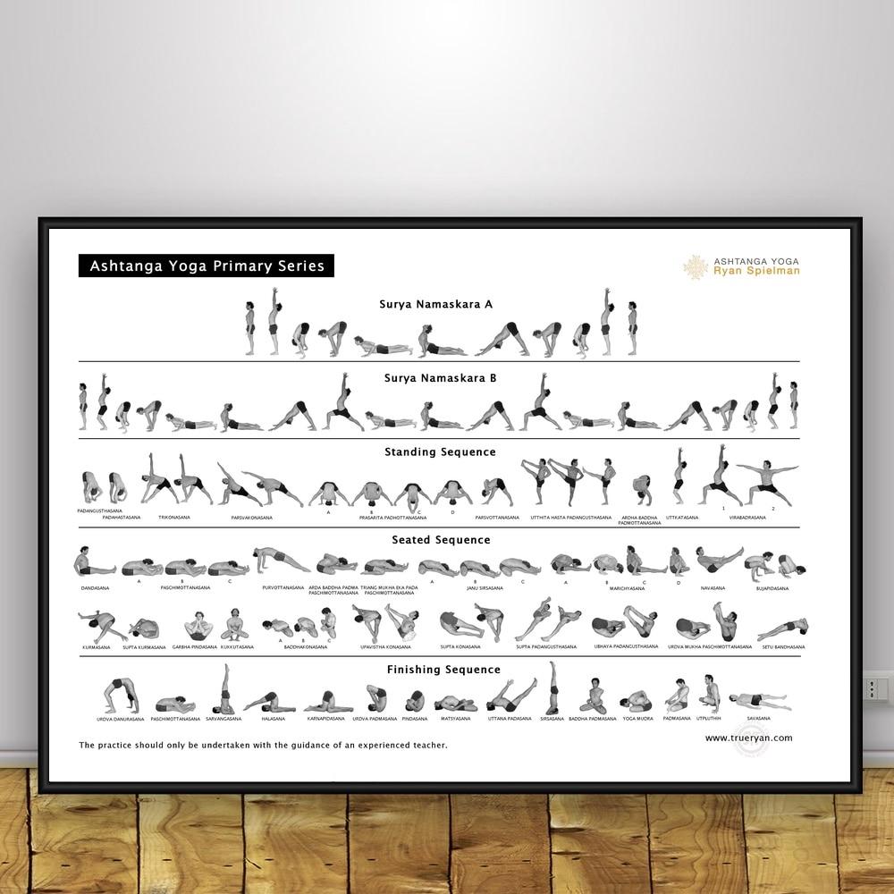 Yoga Ashtanga Art Silk Poster 12x18 24x36 Fifasteluce Com