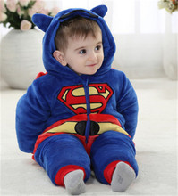 2016 New Cute Animal One Piece Long Sleeve Cotton Newborn Baby Romper Baby Costume Clothing Clothes