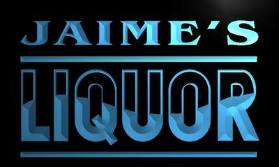 x0266-tm Jaimes Liquor Custom Personalized Name Neon Sign Wholesale Dropshipping On/Off Switch 7 Colors DHL