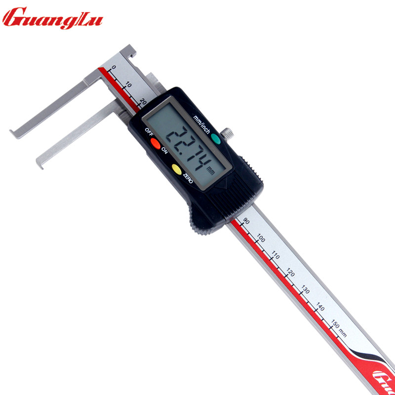 GUANGLU Digital Caliper Inside Groove vernial caliper 8-150mm/0.01mm Stainless Steel Electronic Measurement InstrumentGUANGLU Digital Caliper Inside Groove vernial caliper 8-150mm/0.01mm Stainless Steel Electronic Measurement Instrument