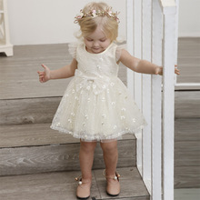 baby girl dress vestido infantil Tutu lace baby dress wedding party gowns long sleeves girls Clothes 1 2 3 years Children Summer