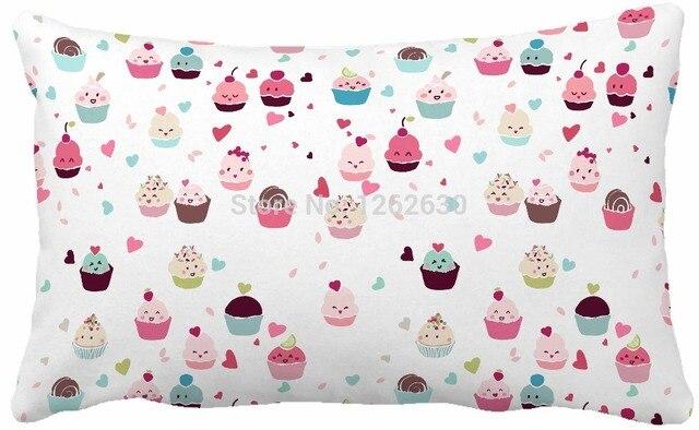 30cmx50cm Cute Love Cupcakes Food Seamless Print Custom Home Decor