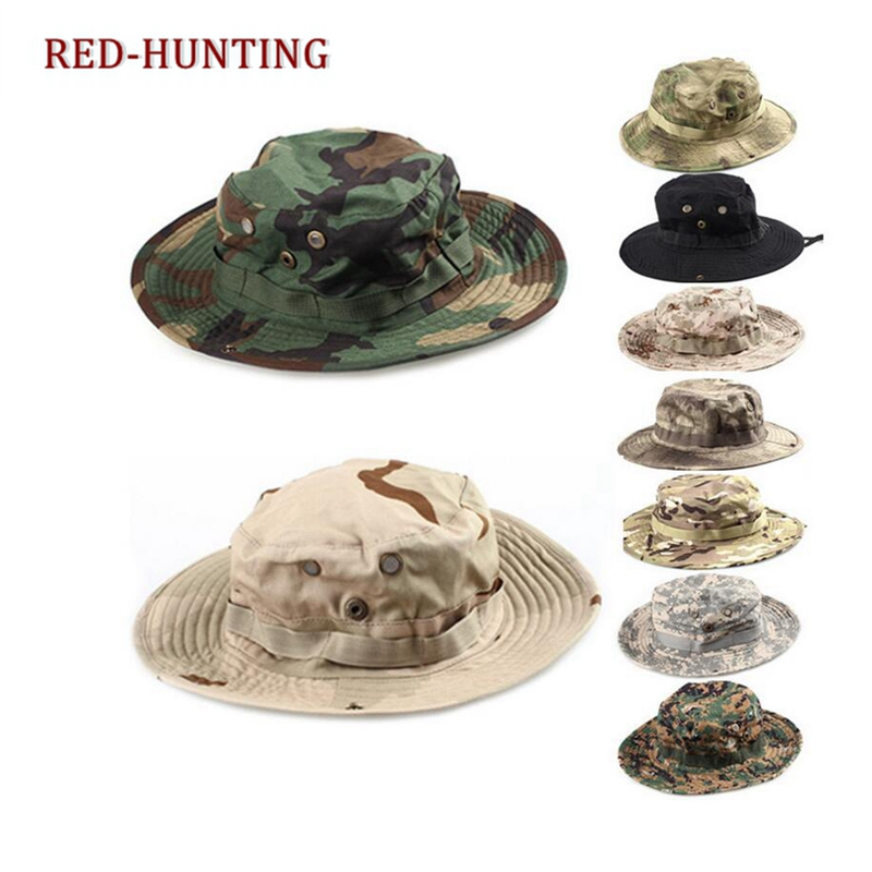 US Shipping Hiking Camping Outdoor Army Patrol Tactical Boonie Sun Block Hat Cap