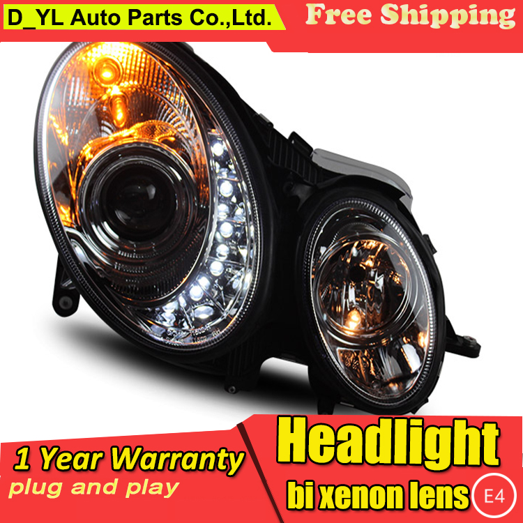 D YL Car Styling for Benz W211 E240 E200 E280 Headlights 2003 2009 W211 LED Headlight