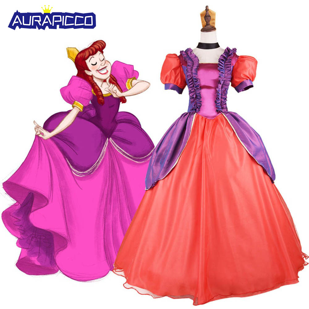 New Cinderella Dress Cartoon Movie Cinderellar Evil Sisters Anastasia Cosplay Costume Halloween Party Ball Gown Fancy Dress