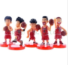 5pcs Slam Dunk Sakuragi Hanamichi Anime Cartoon Action Figures Toy Doll set
