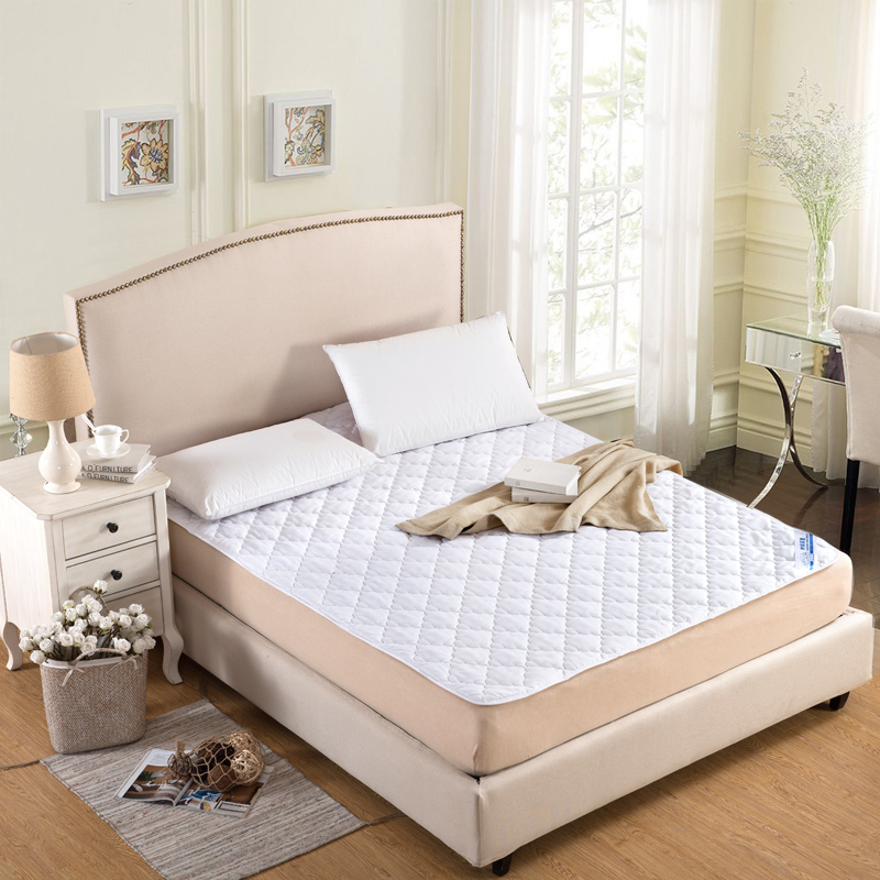 100% Cotton bed protection pad twin single full queen king mattress cover/topper stuffing/filling/rubber quilted fitted sheet