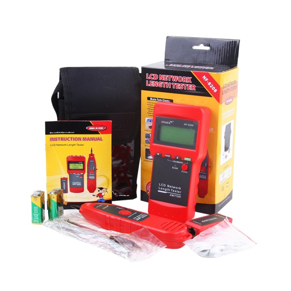 Noyafa NF-8208 Multipurpose LCD Display Network Telephone Cable Tester Tracker Line Finder Wire Tester Cable Locator