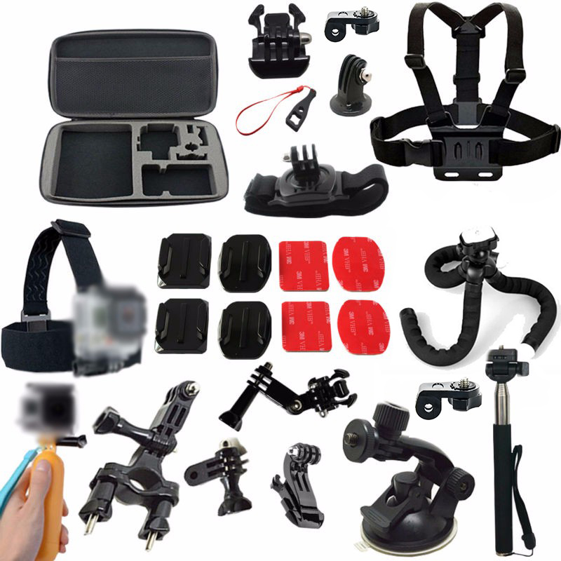 Camera Case Chest Strap Selfie Stick for Sony Action Cam accessories x1000v AS30 SJ4000 Sports Action Cam HDR-AZ1 AS20 AS100V dz chm1 clip head mount kit for sony action camera fdr x1000v hdrr as200v hdr az1vr hdr as100v