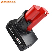 купить Powtree For Milwaukee 4000mAh 12V M12 Power Tool Li-ion Battery Replacement C12 B C12 BX C12 D C12 WS M12 IR M12 J дешево