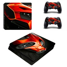 Super Car Decal Skin For PS4 Slim Console Cover For Playstation 4 PS4 Slim Skin Stickers+ Controll