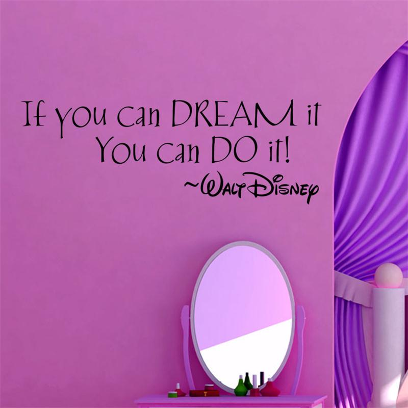 inspiration quote Dream It You Can Do It words home decor wall ...
