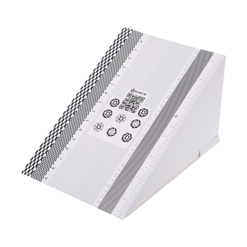Camera Lens Focus Calibration Card AF Micro Alignment Ruler Folding Chart
