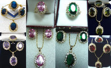 ddh001362 6 color- green/pink/purple/blue/red zirconia bead 18KGP ring pendant earrings can choose(China)