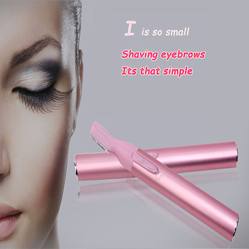 1PCS Mini Portable Electric Women Body Eye Makeup Eyebrow Shaver Razor Epilator Eyebrow Trimmer Hair Remover With Clean Brush
