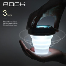 ROCK Wireless Led Bluetooth Speaker Pocket Party Series Mini Portable profession Bass Audio player Subwoofer Speakers