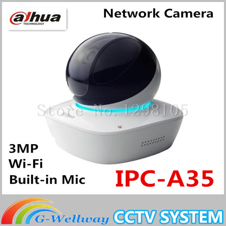 Dahua Built-in Mic & Speaker HD PT 3MP Wi-Fi Network Camera dahua baby monitor IPC-A35,free Shipping a7220 usb built in mic 360° rotating web camera for pc laptop